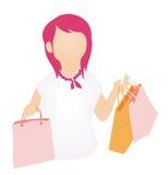 Shopping Girl Icon Stock Photos