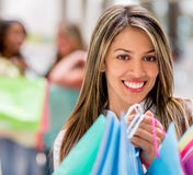 Shopping girl at the mall Royalty Free Stock Photo