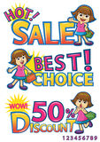 Shopping girl sale discount Stock Photos