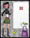 Shopping girl series vector illustration