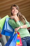 Shopping girl smiling Stock Photo