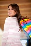 Shopping girl smiling Royalty Free Stock Image
