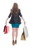 Shopping girl walking Stock Photos