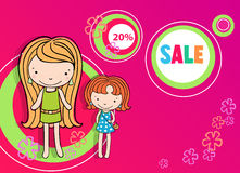 Shopping girl young sexy vector illustration Royalty Free Stock Photo