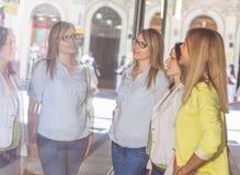 Shopping Girlfriends Stock Photos