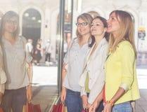Shopping Girlfriends Stock Photography