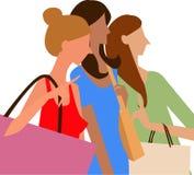 Shopping girls Royalty Free Stock Photography
