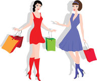 Shopping girls Royalty Free Stock Photography