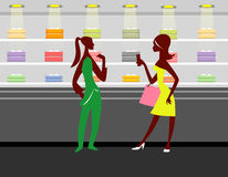 Shopping Girls ! stock images