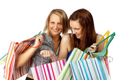 Shopping girls Stock Photography