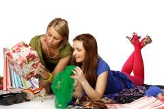 Shopping girls Stock Photography