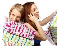 Shopping girls Royalty Free Stock Images
