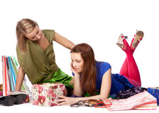 Shopping girls Stock Photos