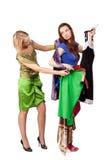 Shopping girls Stock Image