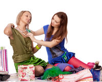 Shopping girls Royalty Free Stock Photo