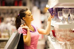 Shopping for glass Royalty Free Stock Photos