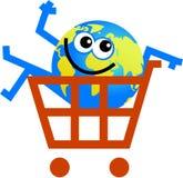 Shopping globe Stock Photo