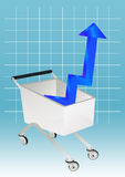 Shopping with graph chart Royalty Free Stock Image