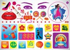 Shopping Graphics royalty free illustration