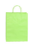 Shopping green paper bag isolated Stock Image