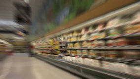 Shopping At The Grocery Store - Time Lapse stock video