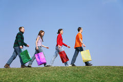 Shopping group Stock Photography