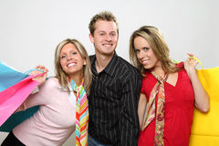 Shopping Group of Friends Royalty Free Stock Images