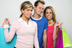 Shopping Group of Friends Stock Photography