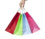 shopping hänger lös Arkivbild