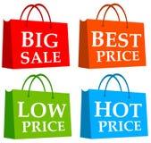 Shopping hänger lös royaltyfri illustrationer