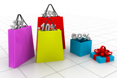 Shopping hänger lös Arkivfoton