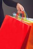 Shopping hänger lös Royaltyfri Bild
