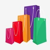 Shopping hänger lös Fotografering för Bildbyråer