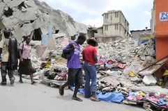 Shopping in Haiti. royalty free stock images