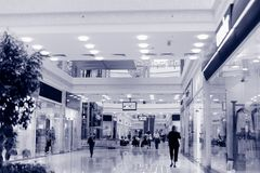 Shopping hall. Tint blue Stock Images