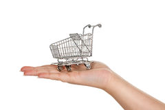 Shopping hand Royalty Free Stock Images