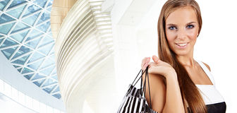 Shopping happy woman. Royalty Free Stock Photography