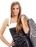 Shopping happy woman. Royalty Free Stock Photos