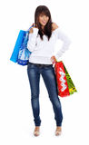 Shopping happy woman. Stock Image