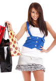 Shopping happy woman. Royalty Free Stock Image
