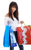 Shopping happy woman. Stock Photo