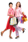 Shopping happy  women. Royalty Free Stock Photography