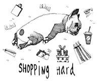Shopping hard  illustration Stock Image