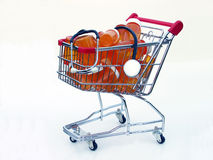 Shopping for health care (side view) Royalty Free Stock Images