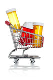 Shopping for healthcare Royalty Free Stock Images