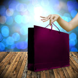 Shopping in holiday sale festival concept Royalty Free Stock Image