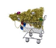Shopping for the holidays Royalty Free Stock Image