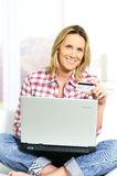 Shopping at home Royalty Free Stock Image