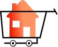 Shopping for homes Stock Image
