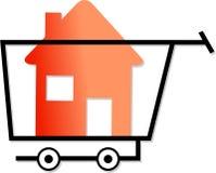Shopping for homes stock illustration